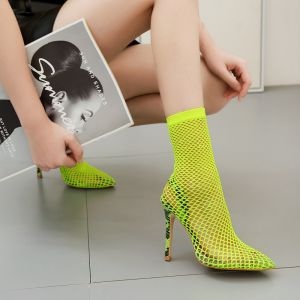 Eye-catching Green Rave Club Womens Sandals 2020 12 cm Stiletto Heels Pointed Toe Sandals