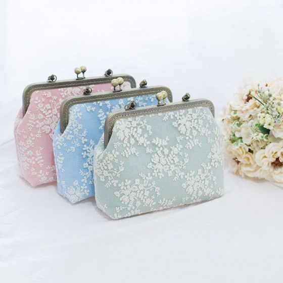 Chinese style Appliques Lace Square Clutch Bags 2020