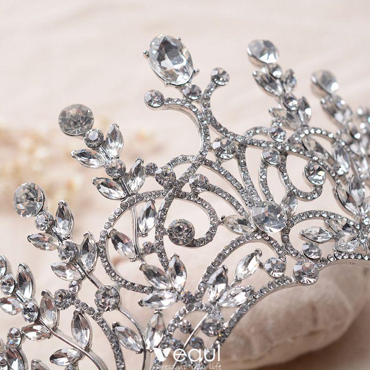 Modern / Fashion Silver Bridal Jewelry 2017 Crystal Rhinestone Metal Tiara