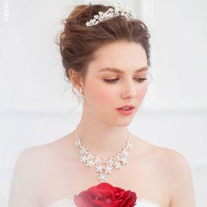 Braut Tiara Halskette Ohrringe Dreiteiligen Brautschmuck Zubehör