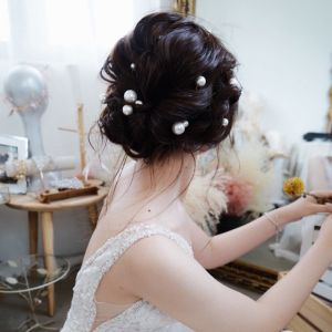 Elegant Ivory Pearl Wedding Headpieces 2020 Metal Bridal Hair Accessories