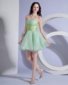 Un Bustier Mini-robe Courte En Organza En Ligne