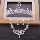 Chic / Beautiful Silver Metal Bridal Jewelry 2018 Pearl Rhinestone Earrings Necklace Tiara Wedding Accessories
