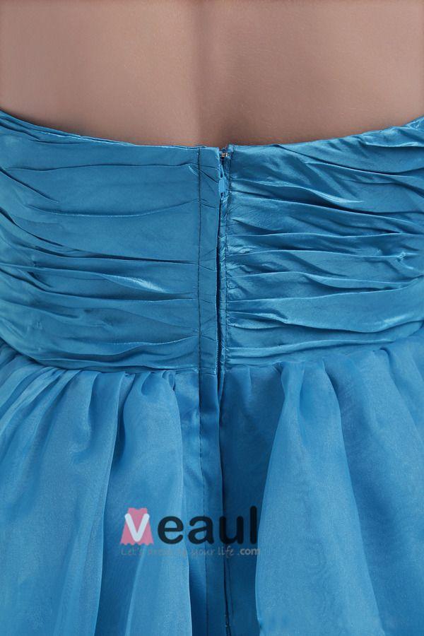 Bustier Courte Beau Robe De Cocktail Bleu