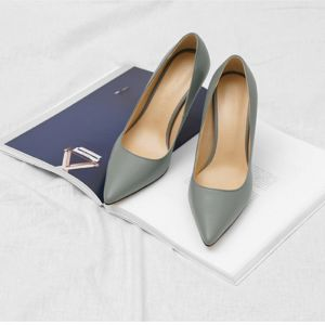 Chic / Beautiful Grey Office OL Pumps 2020 10 cm Stiletto Heels Pointed Toe Pumps