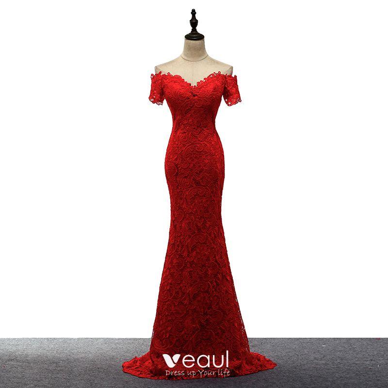 Abendkleid unique rot