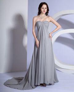 Dianna Agron A-line Sweetheart Court Trains Sleeveless Organza Satin Golden Globe Evening Dress