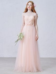 2015 Empire Square Neckline Petal Pearl Organza Evening Dress