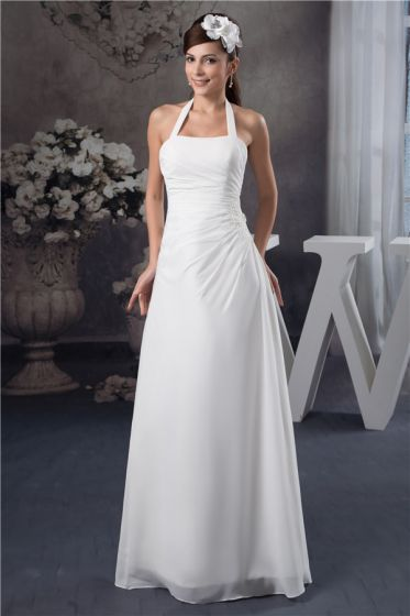 best order coupon codes Licol Perles Manches Longue Robe De Mariage Robe De Mariée Simple