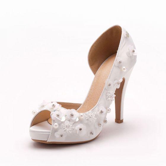Simple Handmade Flower Bridal Shoes / Wedding Shoes / Woman Shoes