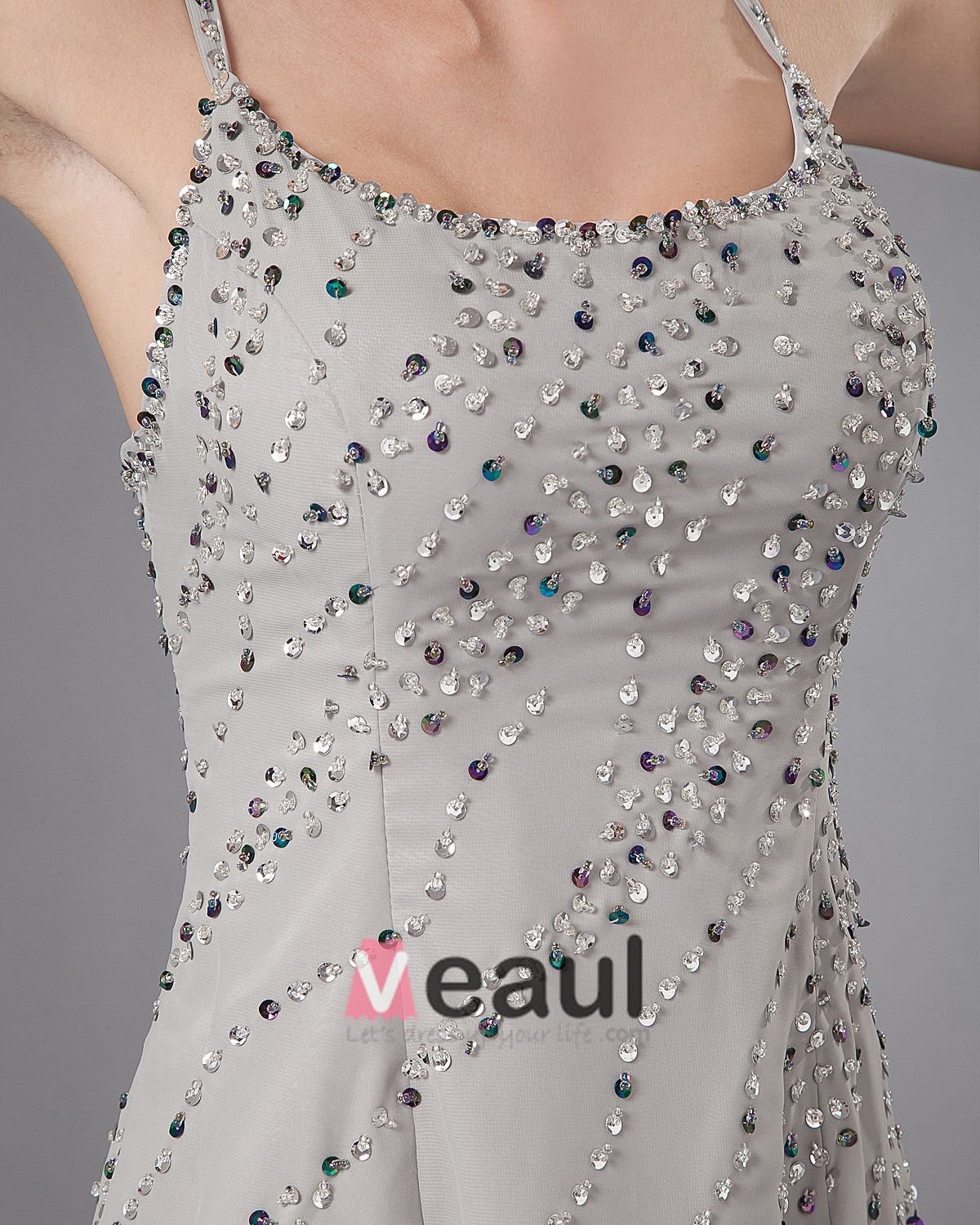 Fashion Chiffon Spaghetti Straps Beading Ankle Length Mothers of Bride Guests Dresses
