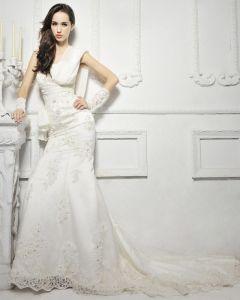 Elegante Spitze Fischschwanz Nachlaufenden Brautkleider