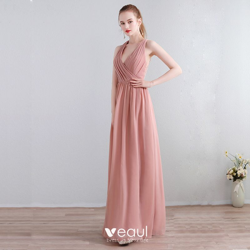 Kleider rosa chiffon lang Kleider Wallpaper