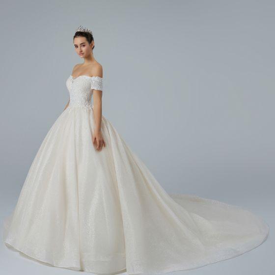 Bling Champagne Wedding Dresses