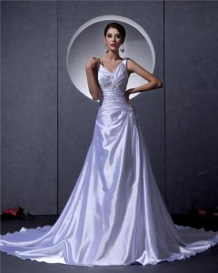 A-line Strap Wedding Dress Bridal Gowns