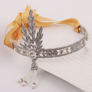 Classic Silver Headpieces 2017 Bridal Hair Accessories Rhinestone Pearl Metal Tiara Accessories Bridal Jewelry