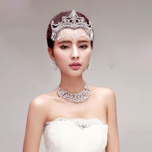 Luxury Bridal Necklace / Earrings / Tiara Three-piece
