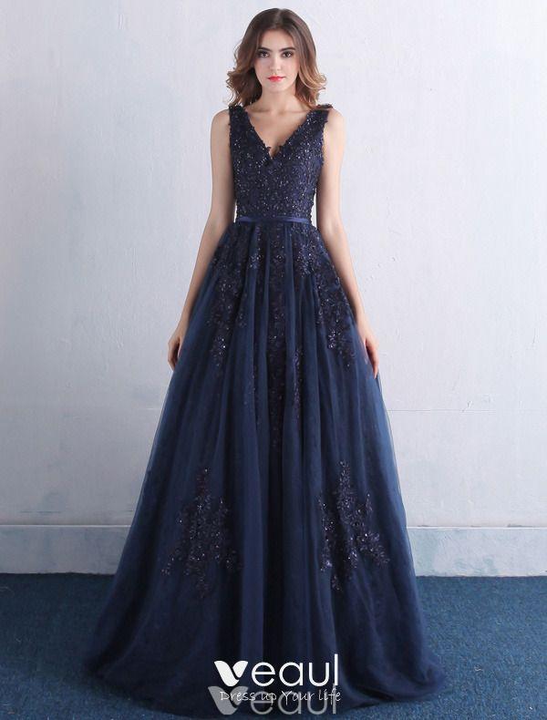 Elegant Prom Dresses 2016 V-neck