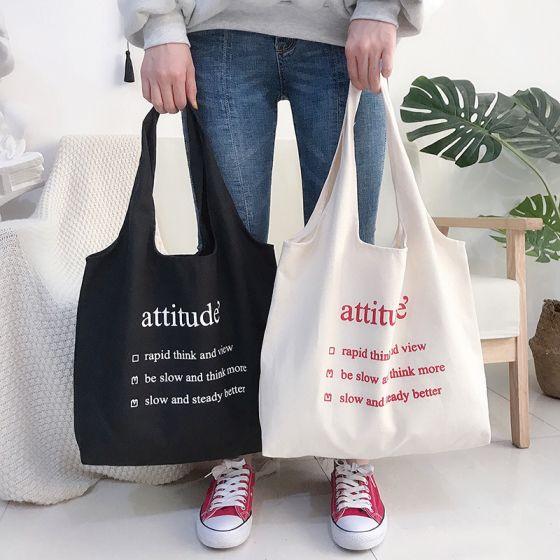 Schlicht Tragetasche Einkaufstasche Schultertaschen 2021 Segeltuch Freizeit Damentaschen