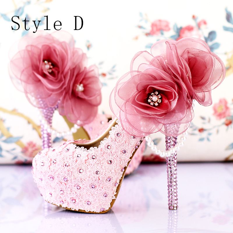 Chic / Beautiful Purple 2018 14 cm Pointed Toe High Heels Beading Crystal Rhinestone Prom Stiletto Heels Pumps Wedding Womens Shoes