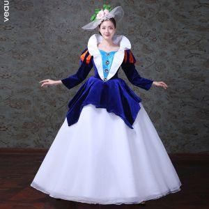 Robe longues bleu et blanche
