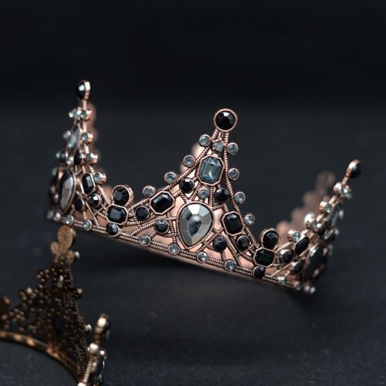 Baroque Bronze Tiara Bridal Hair Accessories 2020 Metal Rhinestone Accessories