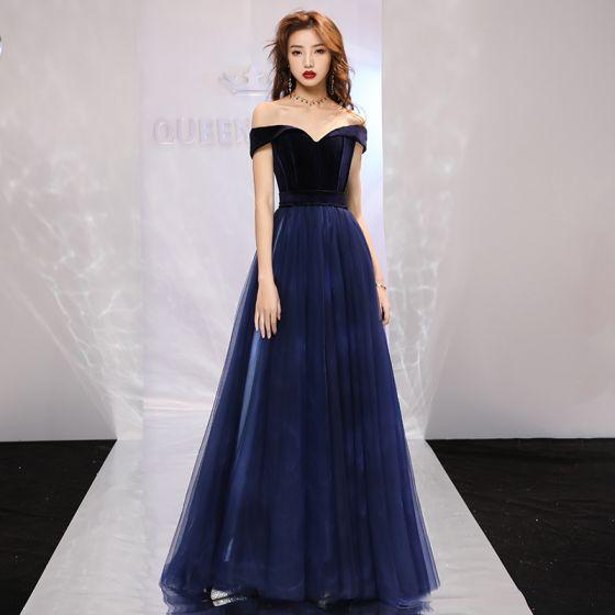 d1d549a70c5 elegant-navy-blue-prom-dresses-2019-a-line-princess-off-the-shoulder-short- sleeve-court-train-ruffle-backless-formal-dresses-560x560.jpg