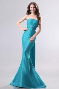 Longues Robes De Soirée Sexy Panneau Bleu Sirène