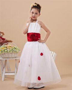 Niedlich Schulterriemen Band Blumenmädchen Kleiden Kommunionkleider