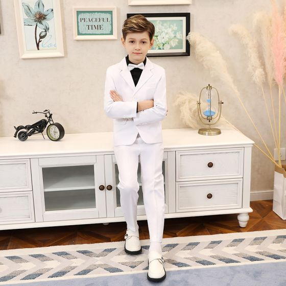 Elegant White Boys Wedding Suits 2019