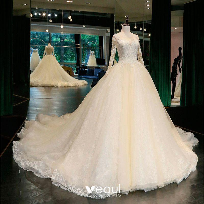 Classic Chic / Beautiful Hall Church Wedding Dresses 2017