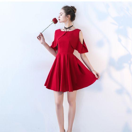 18d88ec0b0 Piękne Czerwone Sukienki Na Studniówke 2017 U-Szyja W paski Homecoming  Princessa Strona Sukienka