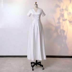 ivory tea length dress