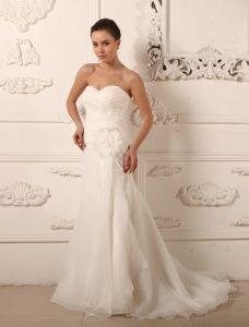 Charmante A-ligne Chérie Fleur Robe De Mariage Simple Robe De Mariée