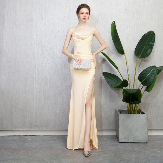 Champagne Prom Dresses 2018