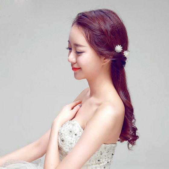 Fashion U-shape White Bridal Headpieces /Head Flower / Wedding Hair Accessories / Wedding Jewelry