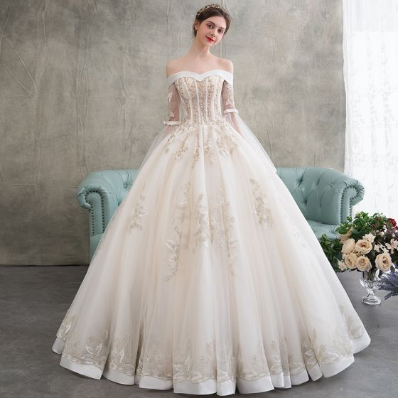 2f8120908 elegant-champagne-wedding-dresses-2018-ball-gown-appliques-lace -beading-pearl-off-the-shoulder-backless-long-sleeve-floor-length-long- wedding-560x560.jpg