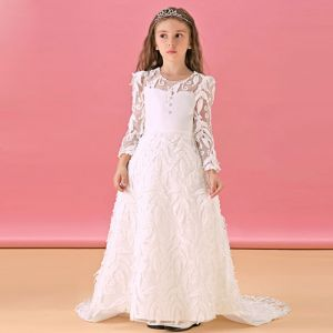 Fall And Winter Flower Girl Dress Princess Dress Trailing