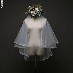 Vintage / Retro Wedding Ivory Tulle 1.5 m Short Wedding Veils 2019