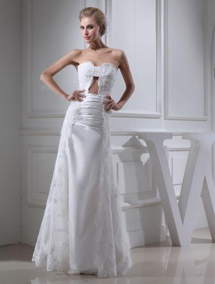 Uniques Gaine Chérie Bustier Robe De Mariée En Dentelle Plissée