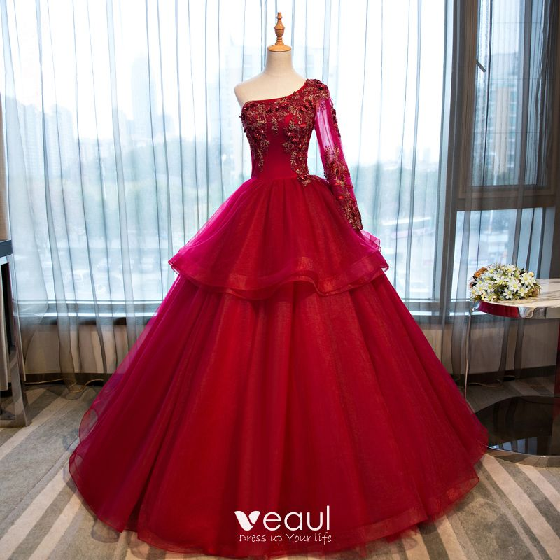Chic / Beautiful Red Prom Dresses 2017