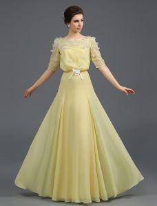 2015 A-linie Quadratischen Ausschnitt Sicke Perle Und Blume Tüll Abendkleid