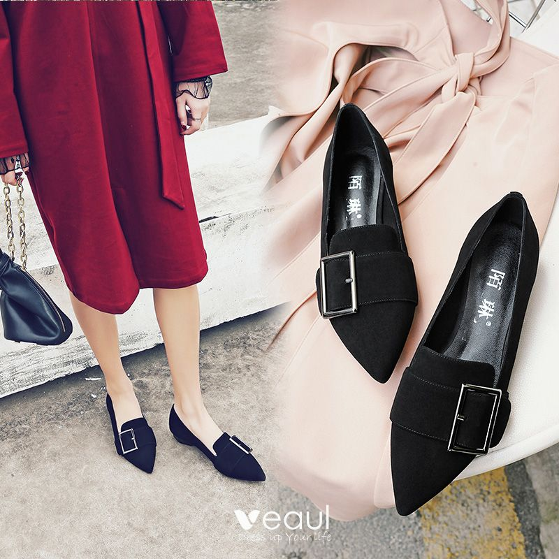 Chic / Beautiful Outdoor / Garden 2017 Leather Metal Buckle Womens Shoes