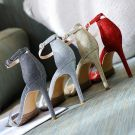 Sparkly Silver 2018 Summer Buckle Ankle Strap Beach Sequins Evening Party Womens Shoes