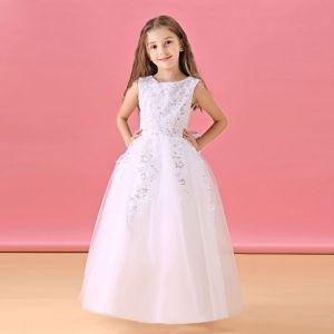 Langen Abschnitt Der Blumenmädchen-kleid Prinzessin Kleid Kommunionkleider