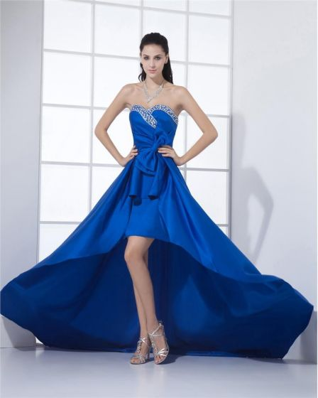 Sweetheart Neckline Floor Length Beading Pleated Satin A-Line Woman Prom Dresses