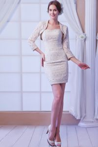 2015 Alluring Sweetheart Lace Short Cocktail Dress