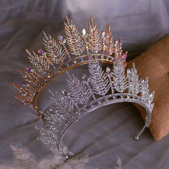 Amazing / Unique Bridal Hair Accessories 2020 Metal Rhinestone Tiara Wedding Accessories