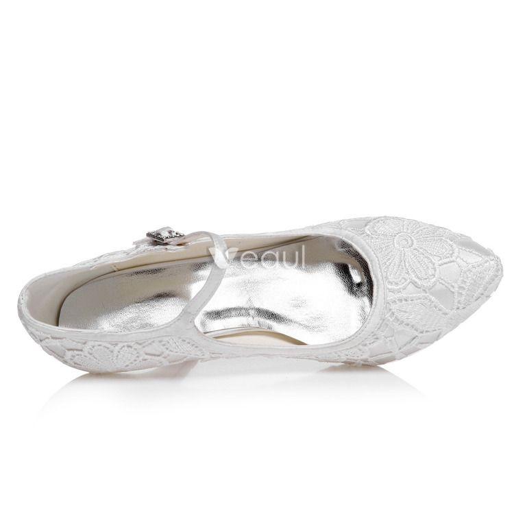Vintage Wedding Shoes 3 Inch Stiletto Heel Pumps White