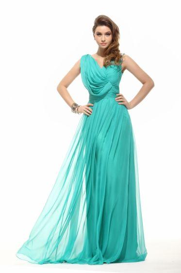 2015 Good Quality Pleated Sleeveless Formal Dress Evening Dresses